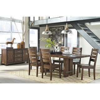 Signature Design by Ashley Chadoni Dark Brown Dining Room Table with Four Chairs Set