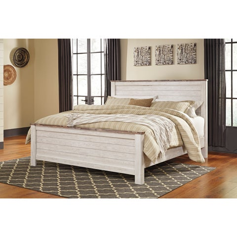 Signature Design by Ashley Willowton White King Bed