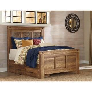Signature Design by Ashley Hammerstead Golden Brown Queen Storage Bed