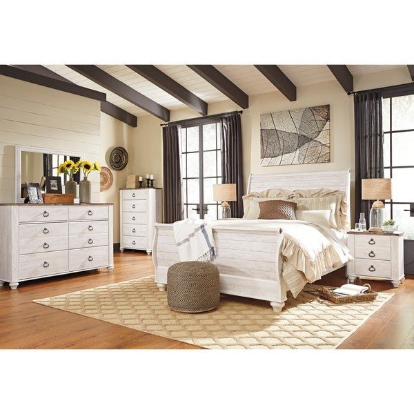 Shop Signature Design By Ashley Willowton White Queen Bed