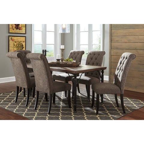 Signature Design by Ashley Leystone Graphite Dining Table with Four Chairs Set