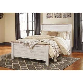 Exceptional Signature Design By Ashley Willowton White Queen Panel Bed