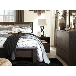 Signature Design by Ashley Dreamur Dark Brown King Panel Bed