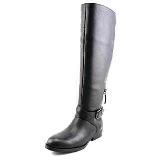 Nine West Women's Virtuous Wide Calf Black Leather Boots