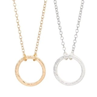 Silver and Gold Circle Necklaces