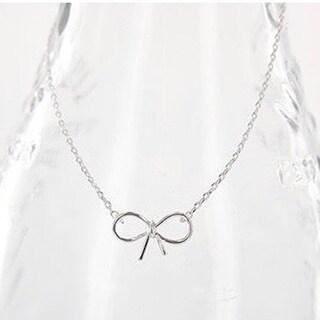 Silverplated 17-inch Bow Pendant Necklace