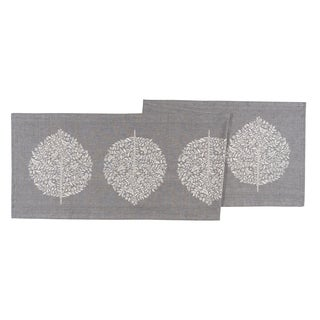 Now Designs Elmwood Grey Cotton Chambray Weave Table Runner