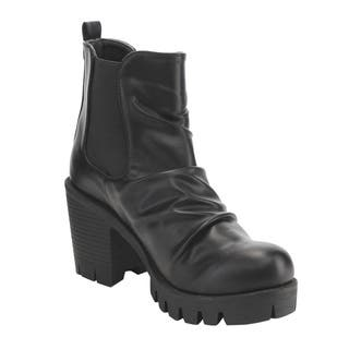 C Label Women's AE30 Faux Leather and Ruched Elastic Pull-on Platform-block-heel Ankle Booties|https://ak1.ostkcdn.com/images/products/13047023/P19786074.jpg?impolicy=medium