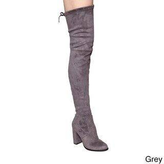 Beston Women's GF58 Drawstring Inside Zip Snug Fit Thigh High Boots (More options available)