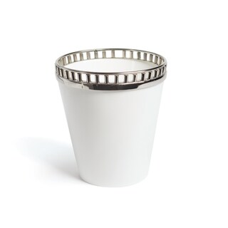 Hip Vintage Goddington White Ceramic and Stainless Steel Wine Cooler