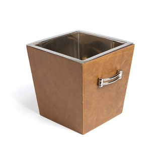 Hip Vintage Albany Leather and Stainless Steel Wine Cooler