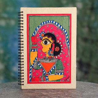 Handmade Paper 'New Bride' Madhubani Journal (India)
