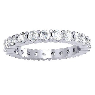 Elora 14k White Gold 2ct TDW Round-cut White Diamond Eternity Bridal Ring (J-J, SI1-SI2)