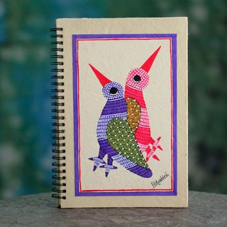 Handmade Paper 'Friends Forever' Journal (India)