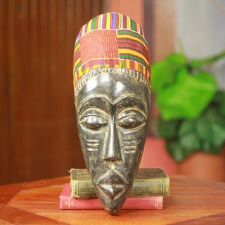 Handcrafted Sese Wood 'Man from Kumawu' African Wall Mask (Ghana)
