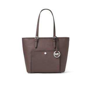 Michael Kors Jet Pack Cinder Saffiano Leather Medium Snap Top-zip Tote Bag