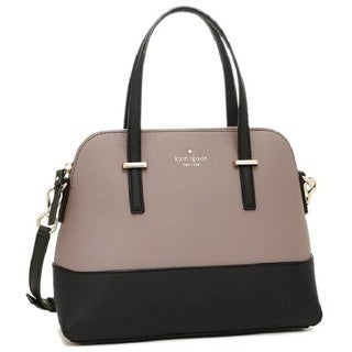 Kate Spade New York Cedar Street Maise Black Color Block Porcini Satchel Handbag