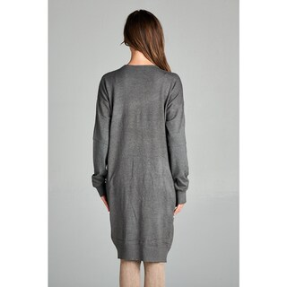 Spicy Mix Jaida Extra-long Front Pocket Ribbed Edge Cardigan