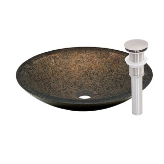 Novatto Laghetto Brushed Nickel Glass Vessel Bathroom Sink Pack