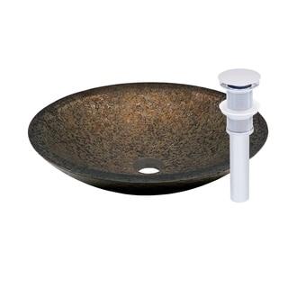 Novatto Laghetto Chrome Glass Vessel Bathroom Sink Pack