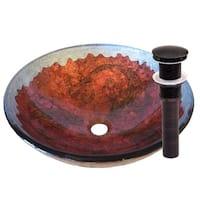Novatto Carpione Oil-rubbed Bronze Glass Vessel Bathroom Sink Pack