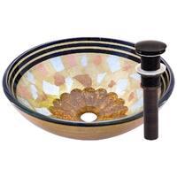 Novatto Celebrazione Oil-rubbed Bronze Brass and Glass Vessel Bathroom Sink Pack