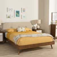 Deals on Carson Carrington Floro Mid-Century Platform Bed Full