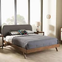 Mid-Century Fabric Platform Bed by Baxton Studio