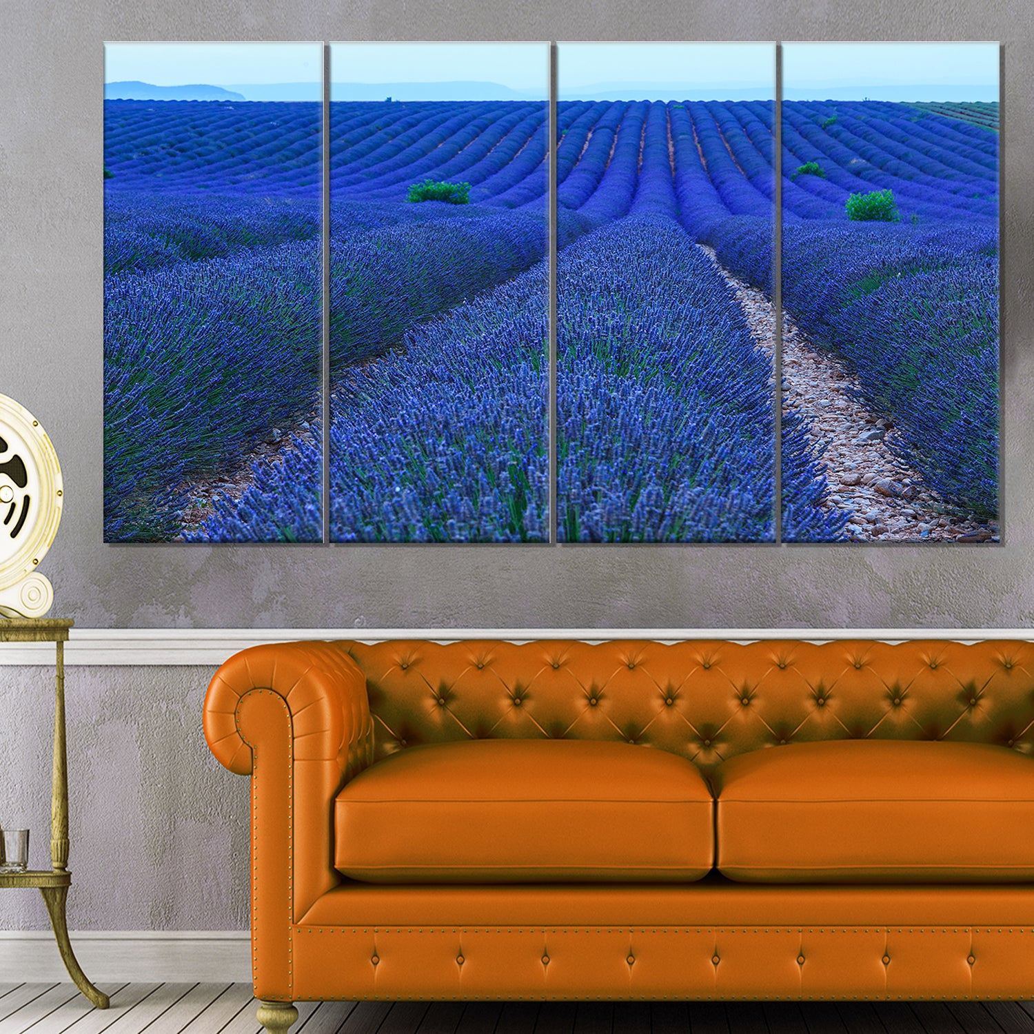 Lavender Field Sunset Near Valensole Large Floral Canvas Art Print Blue On Sale Overstock 13048663