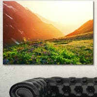 Beautiful Meadow on Sunny Day - Oversized Landscape Canvas Art - Green