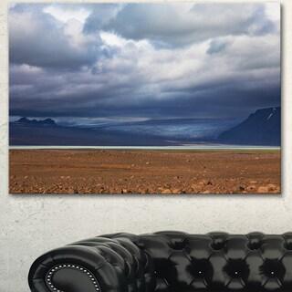 Stretch of Land under Blue Sky - Landscape Artwork Canvas