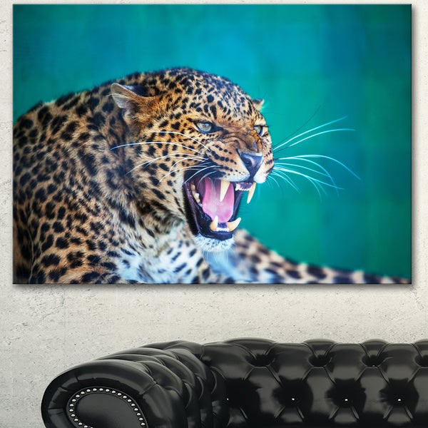 Wild Leopard Close-Up View - Animal Wall Art Print