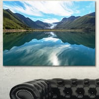 Svartisen Glacier in Norway - Landscape Art Print Canvas