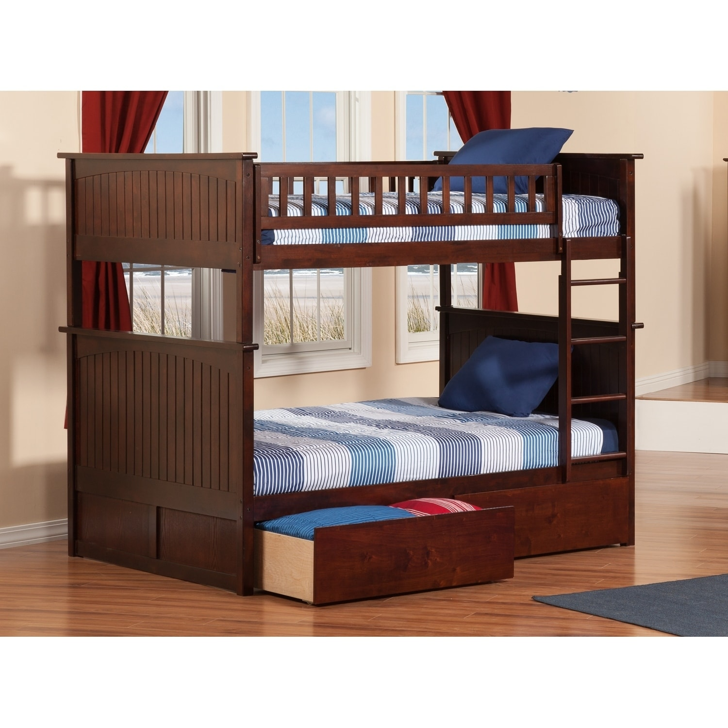 Atlantic Furniture Nantucket Bunk Bed Full over Full with...