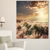 Troubled White Waves on Beach - Seashore Canvas Wall Artwork