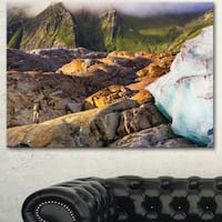 Hike in Norway Mountains - Landscape Wall Art Canvas - Brown