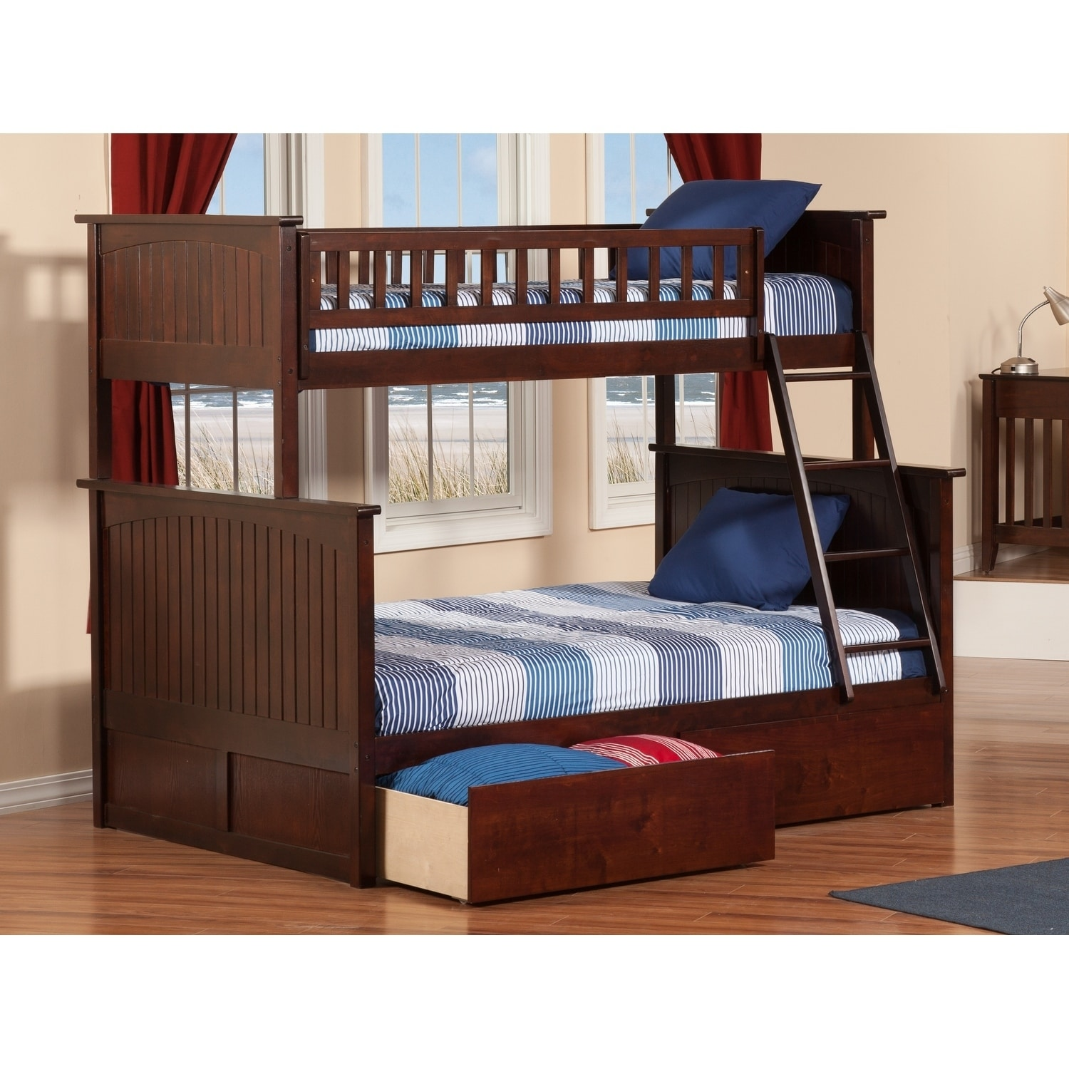 Atlantic Furniture Nantucket Bunk Bed Twin over Full with...
