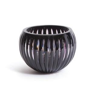 Hip Vintage Salinas Black Glass Vase