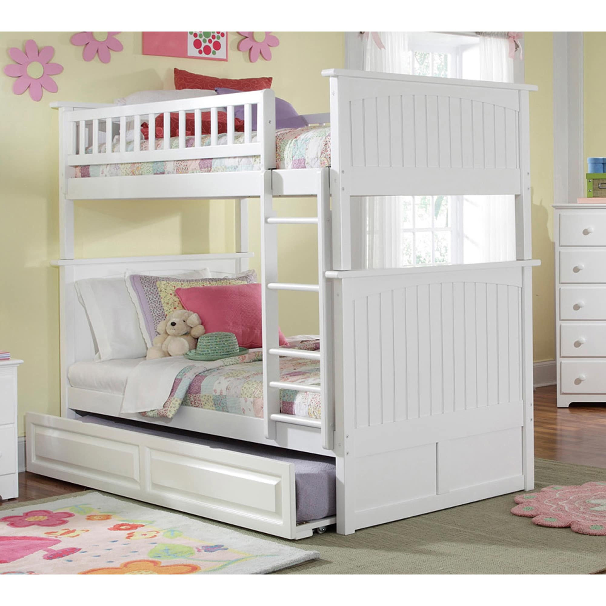 Atlantic Furniture Nantucket Bunk Bed Twin over Twin with...