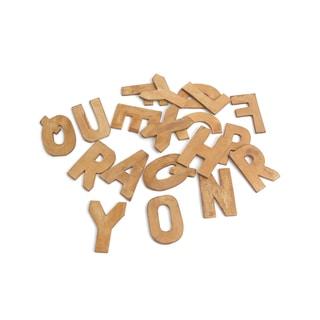 Hip Vintage 'Ms. Rays' Brown Wood Alphabet Pack