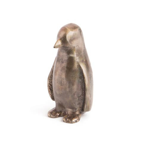 Mr. Popper Brushed Pewter Penguin Figurine