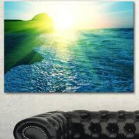 Foaming Blue Waves  - Seashore Canvas Art