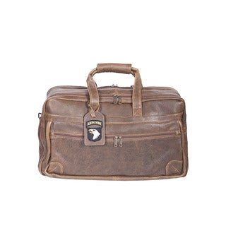 Scully Leather Walnut-colored Lambskin Duffel Bag