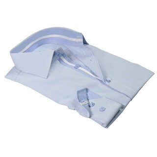 Rosso Milano Italy Men's European Modern-fit Dress Shirt