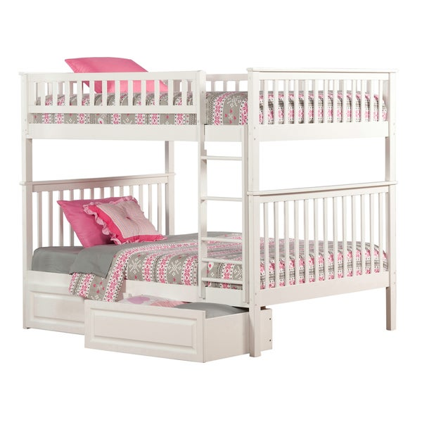Shop Woodland White Full Over Full Bunk Bed With 2 Bed