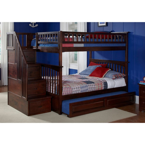 Image Result For Bed Built Over Stair Box: Columbia Staircase Bunk Bed Full Over Full With Raised