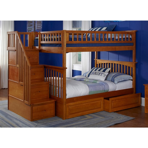 Shop Columbia Staircase Bunk Bed Full Over Full With
