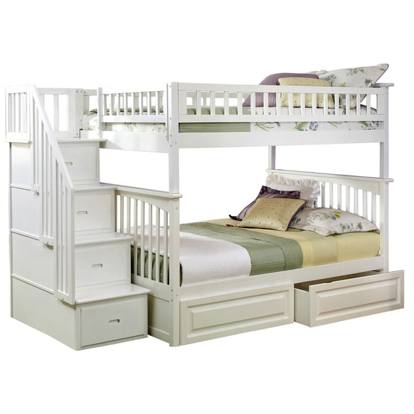 Columbia Staircase Bunk Bed Full Over Full With Raised