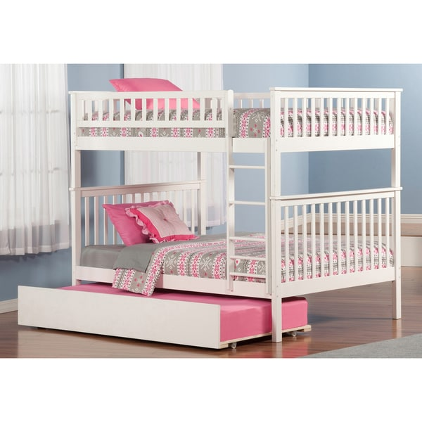 Shop Woodland Bunk Bed Full Over Full With Urban Trundle