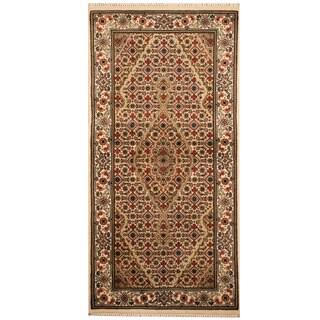 Herat Oriental Indo Hand-knotted Tabriz Wool & Silk Rug (2'4 x 4'8)